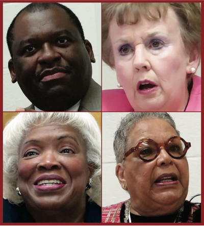 Clockwise from top left: Trevor Fuller, Pat Cotham, Vilma Leake and Ella Scarborough.