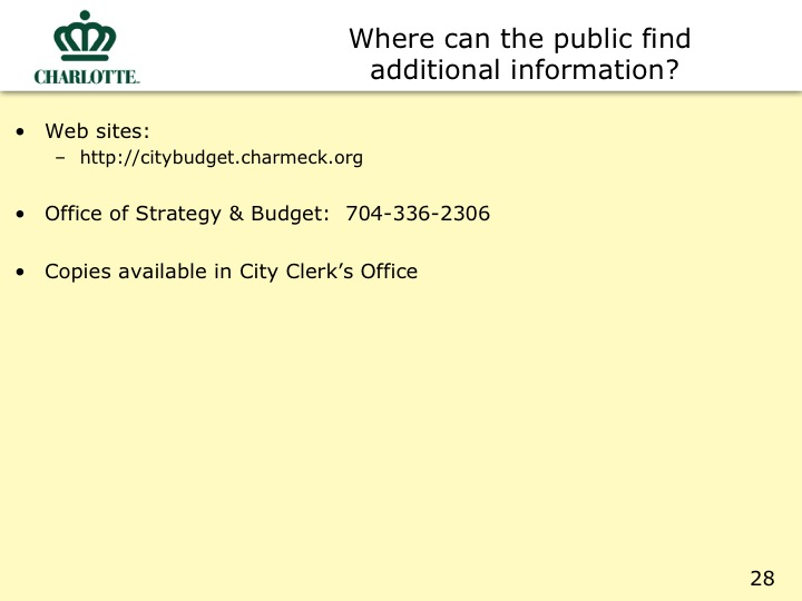 City Proposed Budget Slide
