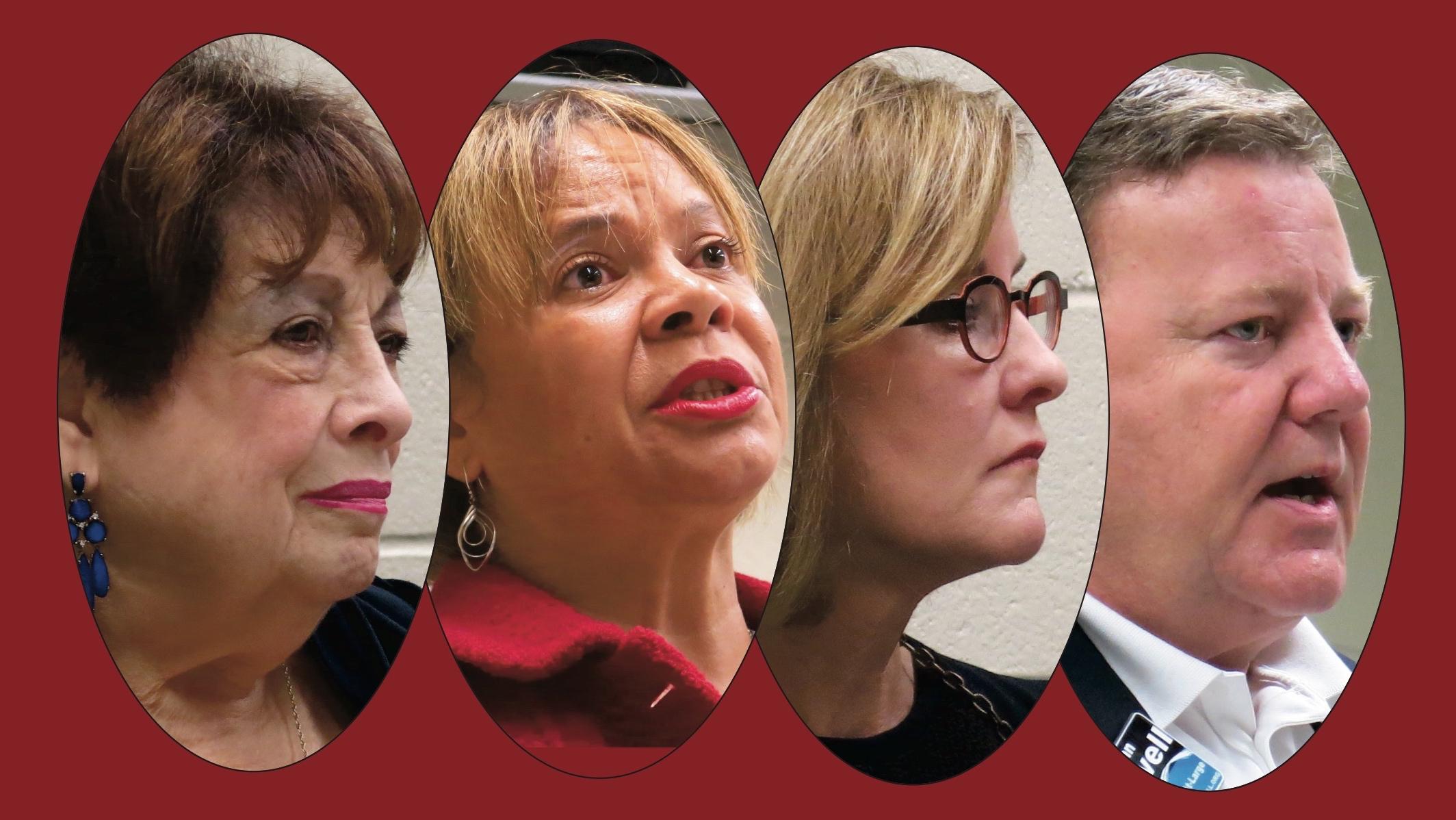 From left: Claire Fallon, Vi Lyles, Julie Eiselt, John Powell