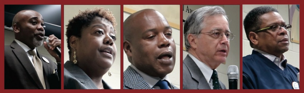 From left: Al Austin, District 2; LaWana Mayfield, District 3; Eric Netter, District 3; Ed Driggs, District 7; Greg Phipps, District 4.